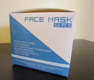 Masca protectie  tip masca chirurgicala cu 3 pliuri si 3 straturi CE FDA  50 buc