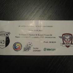 Astra Ploiesti (Giurgiu)-Rapid Bucuresti (bilet de meci)-29 august 2009