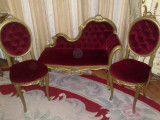 Salon/salonas rococo/canapea cu 2 scaune/baroc/ludovic,hol/vintage