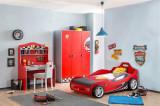 Cumpara ieftin Set Mobila dormitor din pal, pentru copii 3 piese Race Cup Red / Light Blue