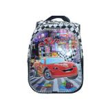 Ghiozdan pentru baietei cu imprimeu 3D Mini Junior Cars GBMC1-N, BabyOno