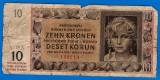 (1) BANCNOTA CEHOSLOVACIA, PROTECTORAT BOHEMIA SI MORAVIA - 20 KORUN 1942