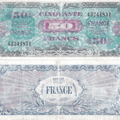 1944, 50 francs (P-122a) - Franța