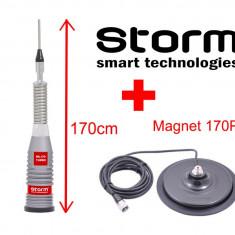 Antena Statie CB Storm ML170 Turbo 170cm + Magnet 170PL