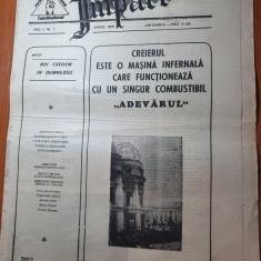 ziarul impact anul 1,nr.1 din  aprilie 1990-prima aparitie