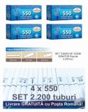 2.200 tuburi de tigari Senator Popular WHITE cu filtru alb pentru tutun