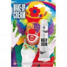 Crema de fata pentru machiaj Halloween si carnaval, tub 28 ml, alb