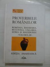 PROVERBELE ROMANILOR - IULIU ZANNE - volumul 3 foto