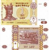 MOLDOVA 1 leu 2010 UNC!!!