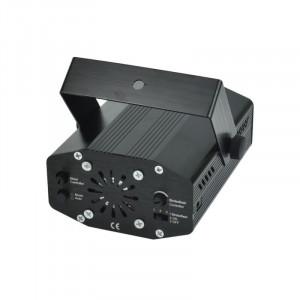 Proiector laser holografic, stele in joc de lumini, cu telecomanda si senzor sunet