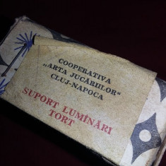 suporti lumanari tort cooperativa arta jucariilor cluj,cutia originala,T.GRATUIT