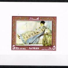 Ajman 1970 - Pictura Renoir, colita ndt neuzata