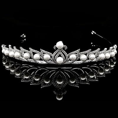 Tiara placata cu Aur 18K, Perle si Diamante, Pearls foto