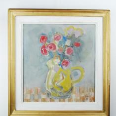 Tablou pictura Flori - Teodor Bogoi n.1933 ulei pe panza