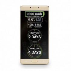 Telefon mobil Allview P9 Energy 4GB RAM, 64GB ROM, Octa Core, Android 6.0, Dual Sim, Amprenta, Gold
