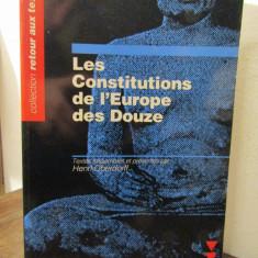 LES CONSTITUTIONS DE L'EUROPE DES DOUZE-HENRI OBERDORFF