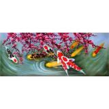 Pestisori colorati- pictura in ulei PC-65, Marine, Realism