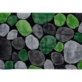 Covor 80x150 cm, verde gri negru, PEBBLE TYP 1