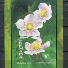 Grenada 1993 - Flori, Christmas-rose, colita neuzata