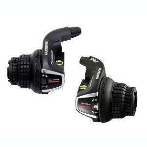 Set manete schimbator 3x6 viteze Shimano Tourney set stanga RS31+dreapta RS-35 RPB Cod:SHI-83652