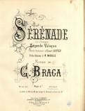 C. Braga Serenade Legende Valaque Partitura Muzicala veche sec. XIX Litografie