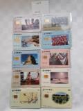 = LOT 469 - TAIWAN - 10 CARTELE TELEFONICE DIFERITE =