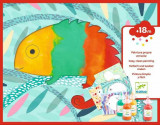 Set creativ Djeco - Bebe apasa si picteaza