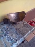 Fructiera centru de masa din alama argintata semnat Farco Plat