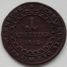1 kreuzer/kreutzer 1812 E Austria, ALBA IULIA