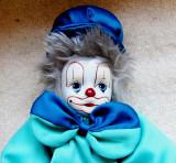 Clown mare cu cap ceramic pictat manual.Vintage.