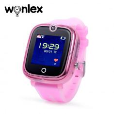 Ceas Smartwatch Pentru Copii Wonlex KT07 cu Functie Telefon, Localizare GPS, Camera, Apel Monitorizare, Pedometru, SOS - Roz, Cartela SIM Cadou