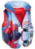 Vesta de salvare gonflabila pentru copii, Spiderman, dimensiuni 46 x 51 cm, Bestway