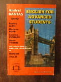 ENGLISH FOR ADVANCED STUDENTS .ANDREI BANTAS
