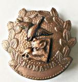 INSIGNA AGVPS CAP MISTRET STANGA SI RATA CL A 3 A VANATOARE PESCUIT AJVPS AVPS, Romania de la 1950