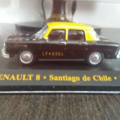 Macheta renault 8 taxi santiago de chile 1965 - ixo, sc. 1/43, noua., 1:43