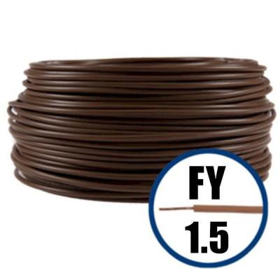 Cablu electric FY 1.5 – 100 M – H07V-U – maro foto