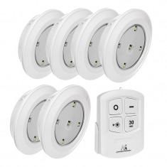 SET 6 LAMPI LED CU TELECOMANDA MCE0165 EuroGoods Quality