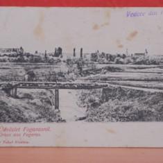 FAGARAS - VEDERE ORAS DIN DEPARTARE - EDITATA INAINTE DE 1918, MODIFICATA DUPA