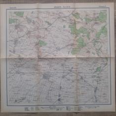 Bailestii// harta Serviciul Geografic al Armatei 1939