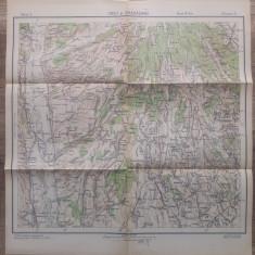Ursii si Dragasanii, jud. Olt/ harta Serviciul Geografic al Armatei 1939