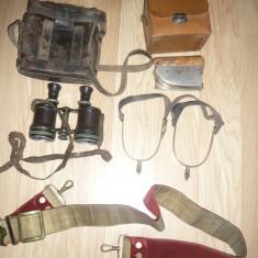Lot de obiecte ale Maresalului Averescu :Binoclu ,pinteni ,centura ,minifier de