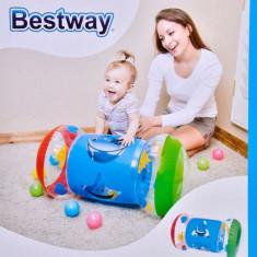 Jucarie pentru bebelusi, model cilindru gonflabil, 64 cm , multicolor
