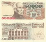 1993 (16 XI), 50.000 złotych (P-159a) - Polonia - stare UNC!