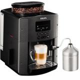 Espressor automat Espresseria Automatic EA8168, dispozitiv spumare, rasnita, ecran LCD, gri, Krups