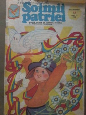 Revista SOIMII PATRIEI - Decembrie 12 anul IX 1988 foto