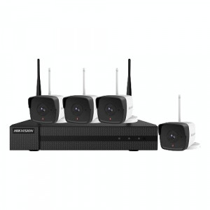 KIT WIFI 4 camere Bullet 2MP cu NVR WIFI - HiWatch