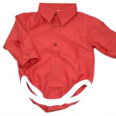 Camasa tip body pentru baietei BCB37R, Rosu