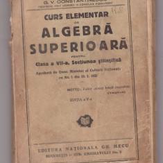 P.Marinescu - Algebra superioara, Bucuresti 1942