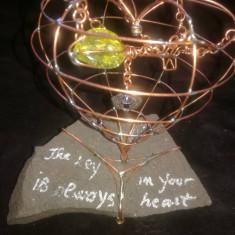 Cheia este totdeauna in inima ta. (sculptura in cupru),handmade ,unicat.
