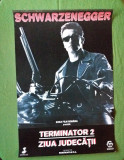 Afis vechi de cinematograf, afis vechi de cinema de colectie Terminator 2